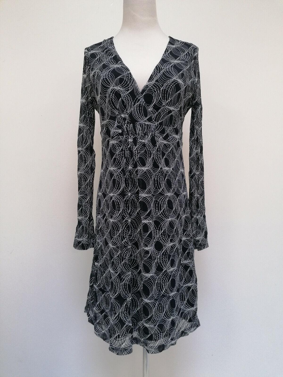 Esprit langarm Mesh Damen Kleid blau Größe L 38046