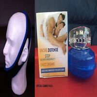 Stop Snoring Chin Belt Strap + Anti Snore Mouthpiece Guard Sleep Guard Men Box
