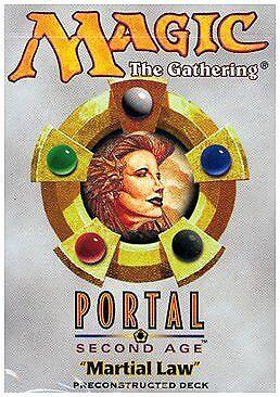 Portal Second Age Theme Deck Martial Law SEALED NEW MAGIC MTG ABUGames ENGLISH