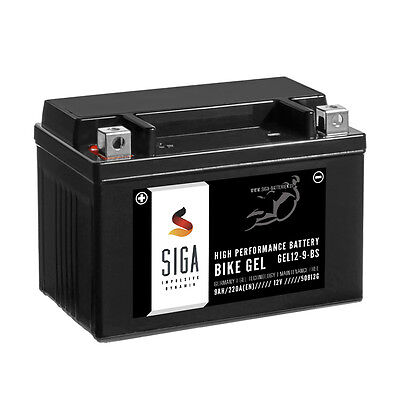 Motorrad Batterie YTX9-BS AGM Gel 9Ah 12V 140A//EN Quad Roller Motorradbatterie YTX9-4 YTX9BS 50812