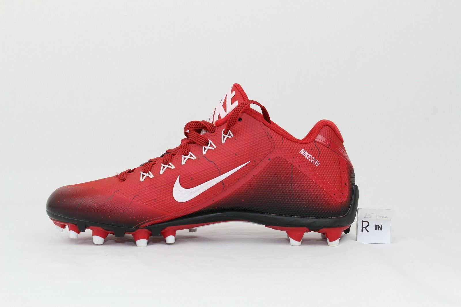 cb9ed7b2fa5 ... NIKE Alpha Pro Pro Pro 2 Low Red White Molded Football Cleats Men s  Sz10 made in ...