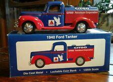 LIBERTY CLASSICS - CITGO DieCast 1940 Ford Tanker 1:25 Lockable COIN BANK/NIB