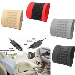 Image Is Loading Electric Massage Lumbar Cushion Travel Pillow Office Car