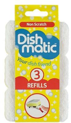 6 Extra Heavy Duty Dishmatic Black Refill Sponges from Caraselle