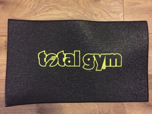 """Total Gym Floor Mat 20/"""" x 12/"""" Lime Green Lettering"""