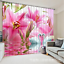 3D Swan flower7 Blockout Photo Curtain Printing Curtains Drapes Fabric Window AU