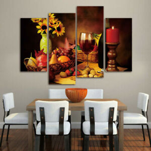 Red Wine Canvas Painting Wall Art, Dining Room Paintings