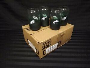 12 NFL Jameson Philadelphia Eagles Irish Whiskey Green Frosted Glass bar Beer