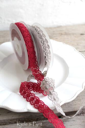 1,30 €//m Fine de vintage dentelle fuseaux Dentellières GALON Folk 15 mm Galon choix de couleur taupe rouge