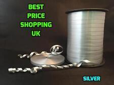 2pcs//Set 225M Balloon Curling Ribbon Wedding Birthday Gift Party Silver+Gold