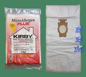 2 Pk Genuine Kirby Hepa Microallergen Plus Vacuum Bags