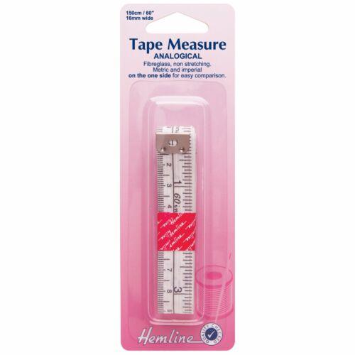 "ANALOGICAL TAILORS 60"" H25 HEMLINE TAPE MEASURE METRIC /& IMPERIAL x 150cm"