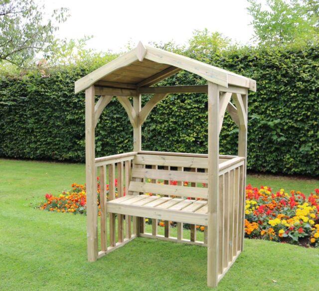 Garden arbour Wooden Garden Arbour Bench Seat Solid 2 seater (AN102) - Wooden Garden Arbour Bench Seat Gazebo Pergola Roof Trellis Cushion