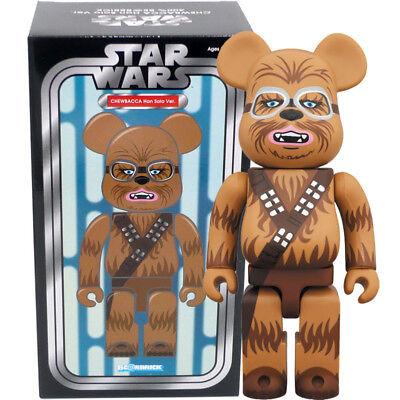Han Solo Ver. Medicom Be@rbrick Bearbrick Star Wars Chewbacca 100/% Figure