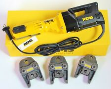 REMS Pressmaschine Power Press E + 3 Pressbacken Presszangen V M paßt auch zu SE