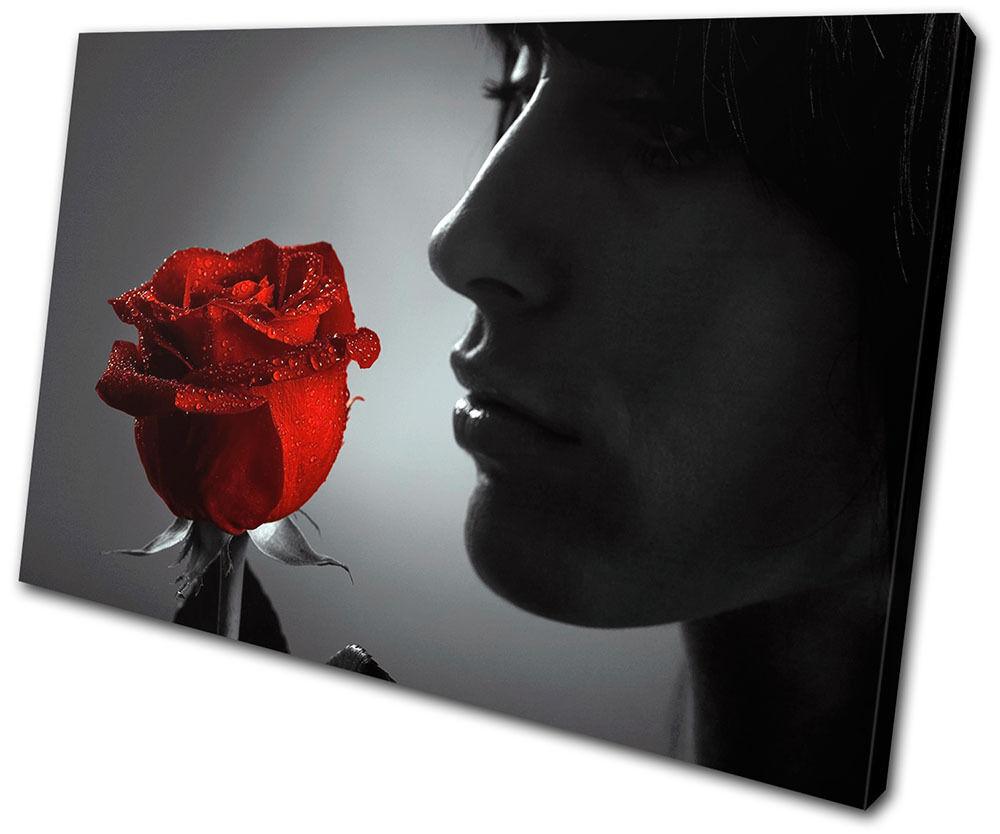 Floral  rojo  arte rose Portrait flower SINGLE LONA pa rojo  arte  Foto impresion 00c5e0