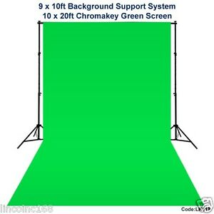 Details about 10 x 20 Chromakey Green Screen Backdrop Background Stand for  Studio Light Kit