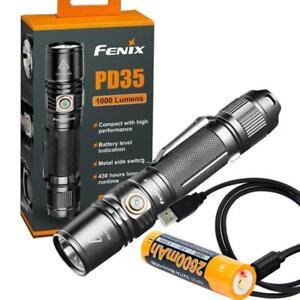 Fenix-PD35-V2-0-2018-Upgrade-1000-Lumen-Flashlight-w-USB-Rechargeable-Battery
