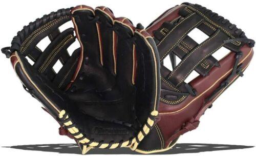 """New Mizuno MVP Series Slowpitch Softball Glove GMVP 1300S1 13/""""  RHT Brown//Black"""