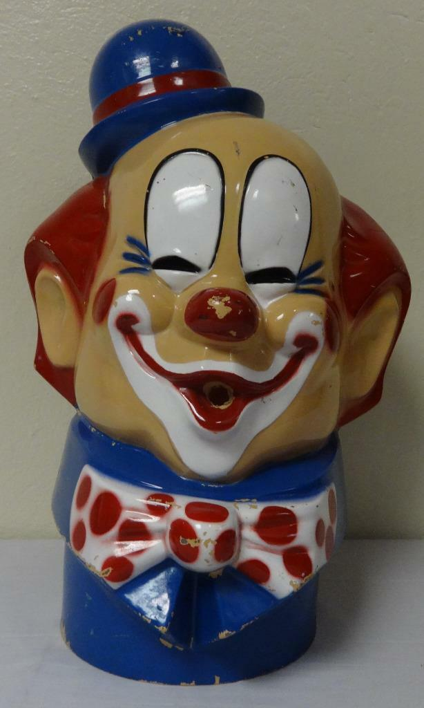 Rare Vintage Elio Ptuttioncino Serbatoio Cover Gree Clown Testa