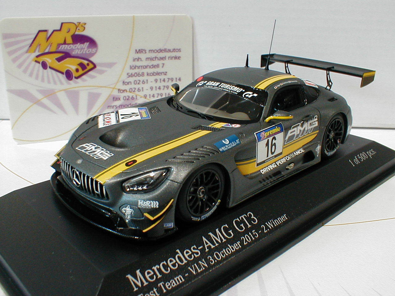 Minichamps 437163016    Mercedes-Benz AMG GT3  16 from 2015 Hunters, Seyffarth 1 43  parfait
