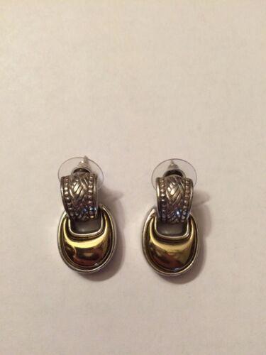 brighton two tone earrings