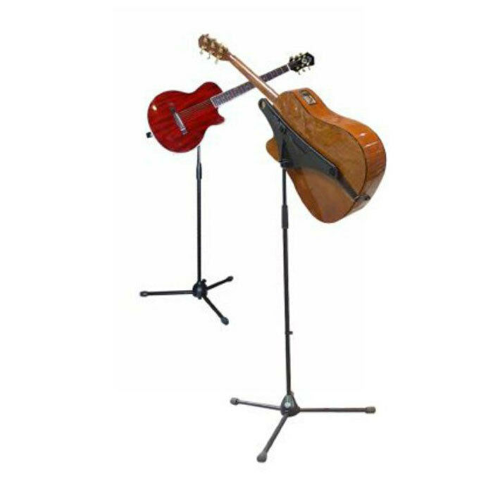 Used Mbrace Guitar holder with New strap & New Strings Attached CD
