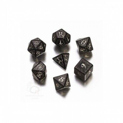 Elvish Dice Black und Glow-in-the-Dark - 7