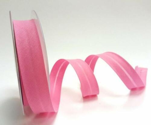 25mm X 2M Candy Pink safisa Poli Algodón Bias Encuadernación.