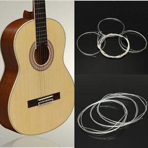 6pcs nylon string silver strings gauge set classical classic guitar acoustic us ebay. Black Bedroom Furniture Sets. Home Design Ideas