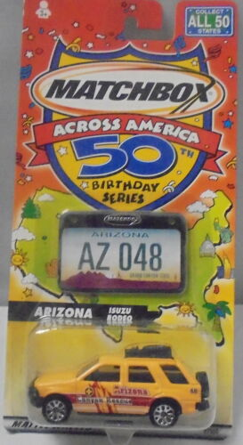 2001 Across America Isuzu Rodeo KKar Matchbox Yellow Arizona