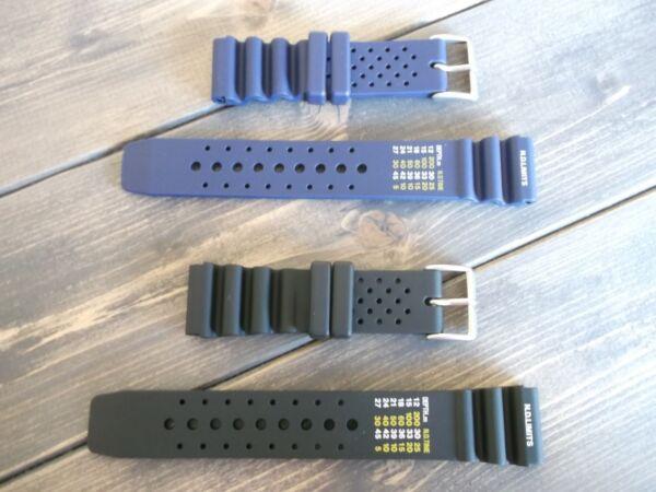 20 22mm Seiko Citizen Casio Apeks Resistant Black Blue Diving Resin Strap Band Jahre Lang StöRungsfreien Service GewäHrleisten