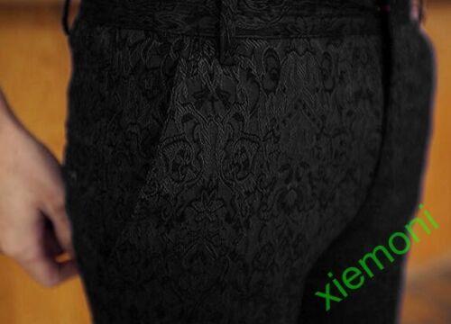 Chic Mens Low Waist Slim Fit Korean Ninth Pants Summer Casual Floral Trouser New