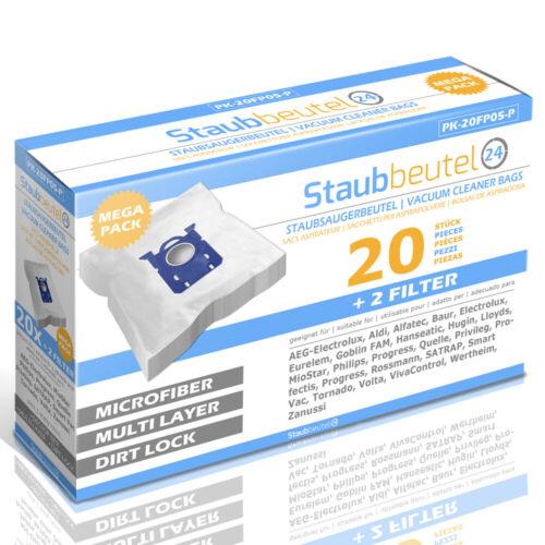 20 Premium Staubsaugerbeutel Für AEG VX7 X Power VX7-1-BO-A