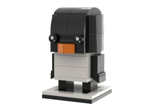 Custom Anleitung Instructions Penguin Brickheadz MOC PDF ONLY