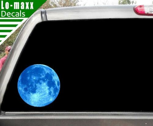 Blue Moon High Quality Graphic Wall Window Various Sizes Printed Vinyl Sticker