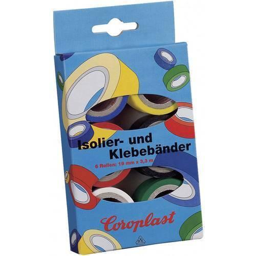 Coroplast 28839 kit nastri adesivi in pvc blu giallo rosso nero bianco