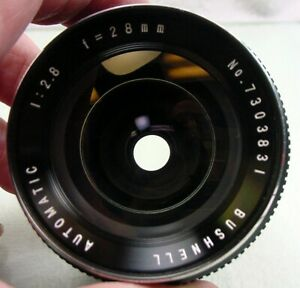 Bushnell 28mm f2.8 Auto Wide-Angle | For AR Konica EE | Serviced | Nice | $40 |