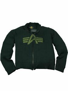 Alpha-Industries-Strickweste-Strickjacke-Knit-Jacket-Schwarz-Oliv-Herren-5346