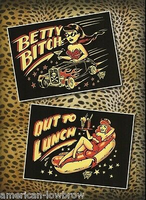 Vince Ray Rock Art Poster Print Betty Bitch Hot Rod Out to Lunch Psychobilly
