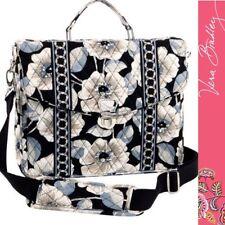 Vera Bradley Shoulder Messenger Bag - Camellia Print RETIRED - Black White Grey