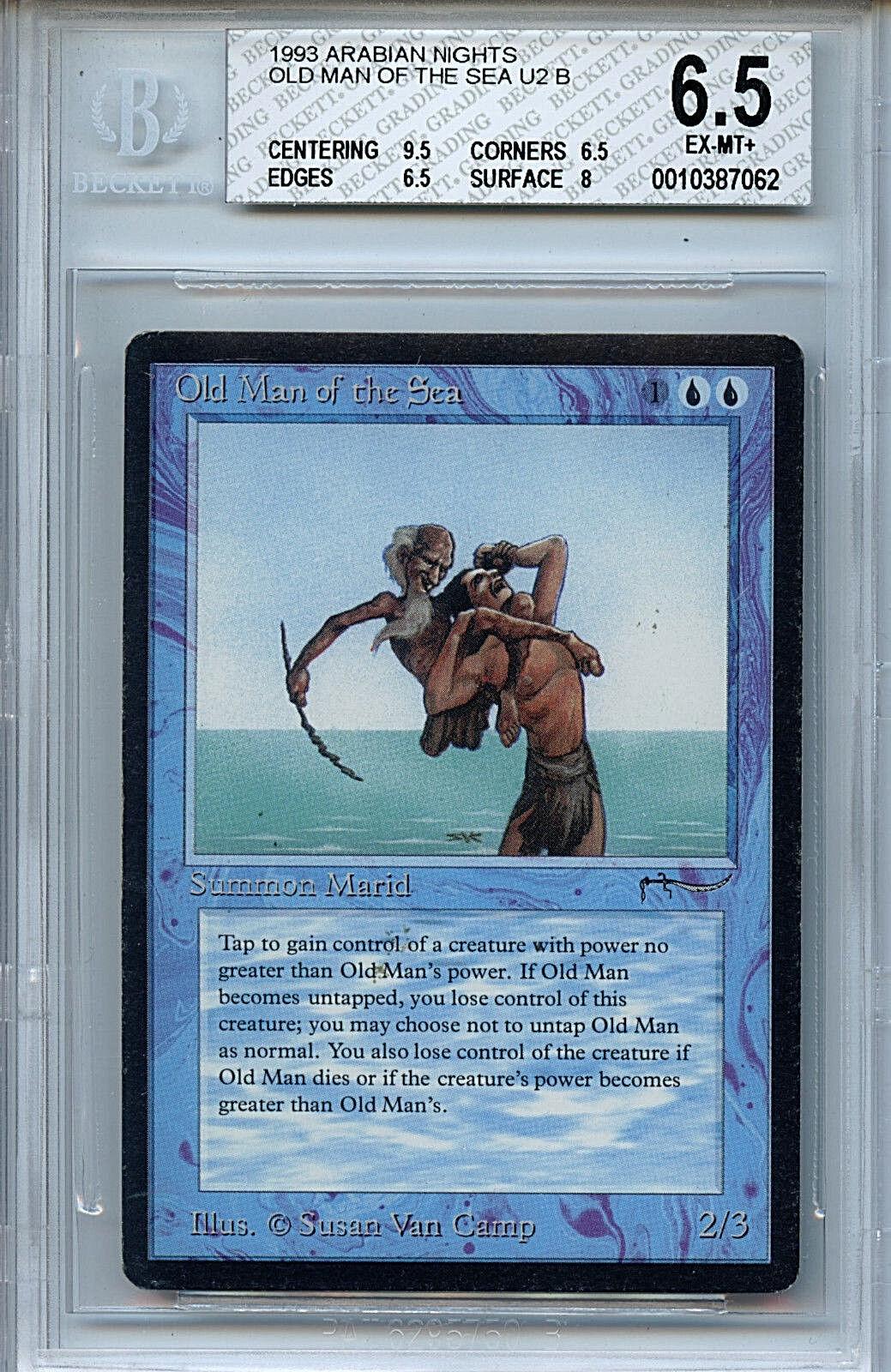 MTG Arabian Nights Old Man of the Sea BGS 6.5 Ex MINT+ 9.5 Centering 7062