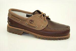 Timberland-Authentics-Classic-3-Eye-Lug-Boat-Shoes-Schnuerschuhe-Mokassins-A15CW