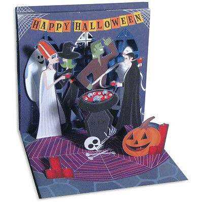 Monster Party Pop-Up Halloween Card - Greeting Card by Up With Paper