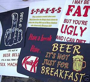 Details about any 3 fun / slogan t shirt iron on transfers,PICK and MIX  wholesale printing