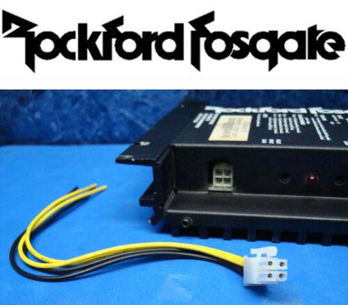 ROCKFORD FOSGATE 4-PIN AMP AMPLIFIER SPEAKER HIGH LEVEL INPUT PLUG WIRE HARNESS