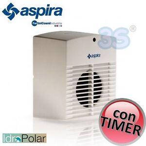 Aspiratore aria odori bagno con timer ac 100t aspira 90 m3 hr tipo vortice nuovo ebay - Aspiratore aria bagno ...