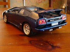 1 18 Lamborghini Diablo V12 Coupe Raro Blue Magnolia Spoiler