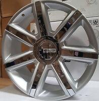 24 Rims & Tires Platinum Style Silver Chrome Wheels Escalade Ext Yukon Denali