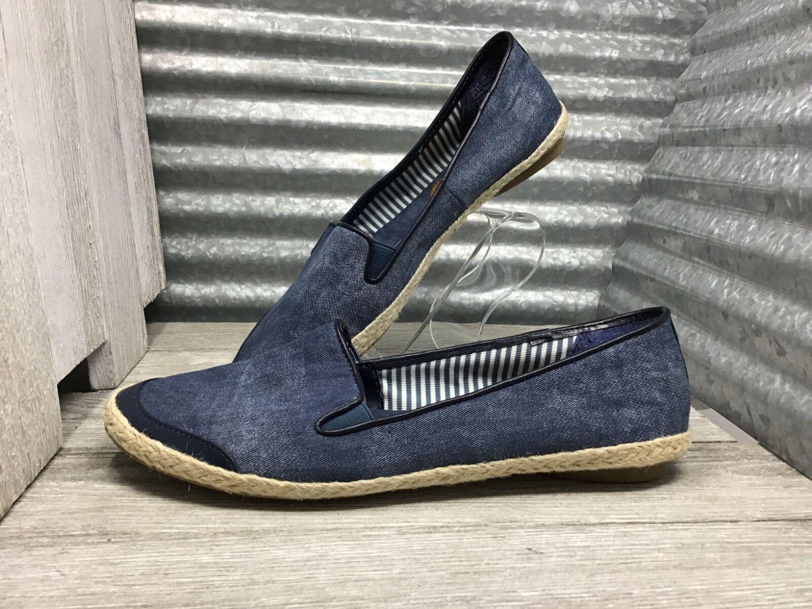 Kim Rodger Denim Loafer Espadrille Trim Comfort Slip On Women's shoes Size 9